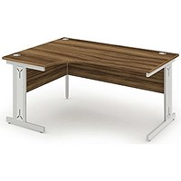 Impulse Plus Corner Desk, Left Hand, 1600mm Wide, Walnut, Installed