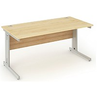 Impulse Plus Rectangular Desk, 1200mm Wide, Maple, Installed