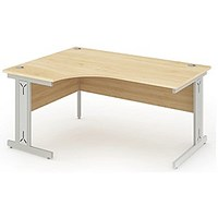Impulse Plus Corner Desk, Left Hand, 1600mm Wide, Maple, Installed