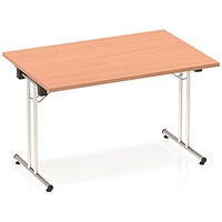 Impulse Folding Rectangular Table, 1200mm Wide, Beech