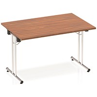 Impulse Rectangular Folding Meeting Table, 1200mm, Walnut