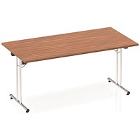 Impulse Rectangular Folding Meeting Table, 1600mm, Walnut