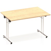 Impulse Rectangular Folding Meeting Table, 1200mm, Maple