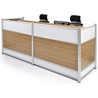 Impulse Signature Reception Desk - Walnut