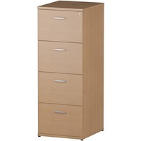 Impulse Foolscap Filing Cabinet, 4-Drawer, Oak