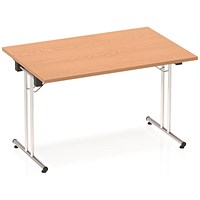 Impulse Rectangular Folding Meeting Table, 1200mm, Oak