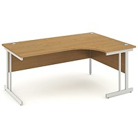 Impulse Corner Desk, Right Hand, 1800mm Wide, Oak, Installed