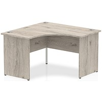 Impulse Call Centre Desk, Panel End, 1200x1200mm, Grey Oak
