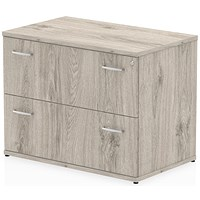 Impulse 2-Drawer Side Filer - Grey Oak