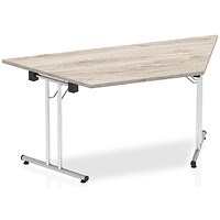 Impulse Trapezoidal Folding Meeting Table, 1600mm, Grey Oak