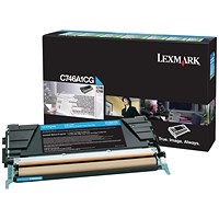 Lexmark C746 Cyan Return Program Toner Cartridge C746A1CG