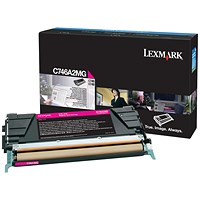 Lexmark C746 Magenta Return Program Toner Cartridge C746A1MG