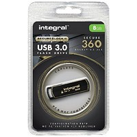 Integral Secure 360 Encrypted USB 3.0 8GB Flash Drive