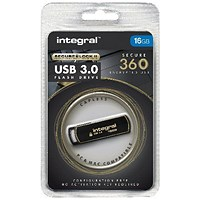 Integral Secure 360 Encrypted USB 3.0 16GB Flash Drive