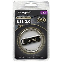 Integral Secure 360 Encrypted USB 3.0 32GB Flash Drive