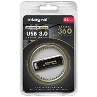 Integral Secure 360 Encrypted USB 3.0 64GB Flash Drive