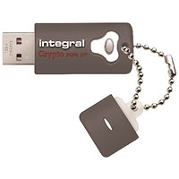 Integral Crypto Encrypted USB 3.0 64GB Flash Drive