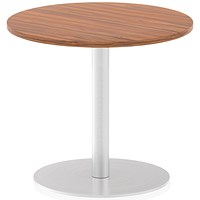 Italia Poseur Round Table, 600mm Diameter, Walnut