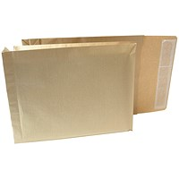New Guardian Armour Gusset Envelopes, 330x260mm, 50mm Gusset, Peel & Seal, Manilla, Pack of 100