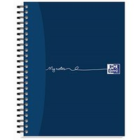 Oxford MyNotes Wirebound Notebook, A5, 2 Holes, Ruled with Margin, 160 Pages, Pack of 5