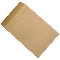 5 Star Plain C4 Envelopes, Manilla, Press Seal, 115gsm, Pack of 250