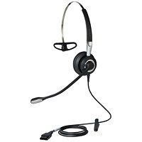 Jabra BIZ 2400 II Mono Headset with Multi-Device Connectivity Black/Grey Ref 2406-820-204