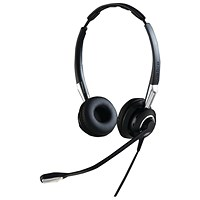 Jabra BIZ 2400 II QD Duo NC Headset (PeakStop technology keeps sounds levels safe) 2409-820-204