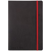 Black n' Red Soft Cover Business Journal, A5, Numbered Pages, 144 Pages