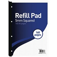 Hamelin 5mm Squared Refill Pad A4 80 Sheet (Pack of 5)