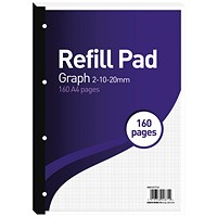 Hamelin 2-10-20mm Graph Refill Pad A4 80 Sheet (Pack of 5) 400127712