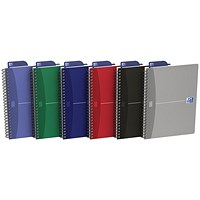 Oxford Office Soft Cover Wirebound Notebook, A5, Random Colour, Pack of 5