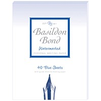 Basildon Bond Writing Pad 137 x 178mm Blue (Pack of 10)