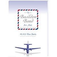 Basildon Bond Airmail Pad 148 x 210mm Blue (Pack of 10)