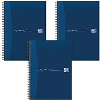 Oxford MyNotes Wirebound Notebook, A5, Feint Ruled & Margin, 200 Pages, Pack of 3