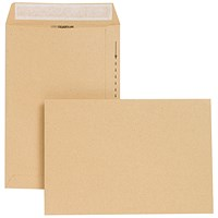 New Guardian Heavyweight Pocket Envelopes, 254x178mm, Manilla, Peel & Seal, 130gsm, Pack of 250