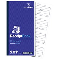 Challenge Carbon Receipt Book, 4 to View, 200 Receipts, 241x92mm, Pack of 10