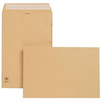 New Guardian Heavyweight Pocket Envelopes, 381x254mm, Manilla, Peel & Seal, 130gsm, Pack of 125