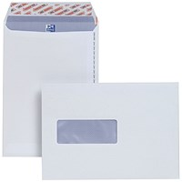 Plus Fabric C5 Pocket Envelopes, Window, Peel & Seal, 120gsm, White, Pack of 500
