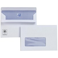 Plus Fabric C6 Wallet Envelopes with Window, Press Seal, 120gsm, Pack of 500