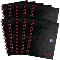 Black n' Red Soft Cover Wirebound Notebook, A4, Perforated & Ruled, 100 Pages, Pack of 10