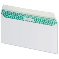 Basildon Bond Recycled Plain DL Envelopes, White, Peel & Seal, 120gsm, Pack of 100
