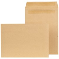 New Guardian C4 Pocket Envelopes, Manilla, Press Seal, 90gsm, Pack of 250