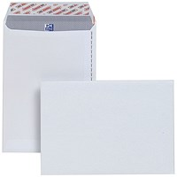 Plus Fabric C4 Pocket Envelopes, White, Peel & Seal, 120gsm, Pack of 250
