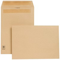 New Guardian Heavyweight C4 Pocket Envelopes, Manilla, Press Seal, 130gsm, Pack of 250