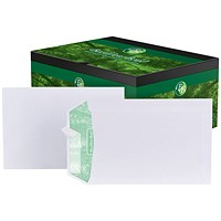 Basildon Bond Recycled C5 Pocket Envelopes, White, Peel & Seal, 120gsm, Pack of 500