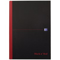 Black n' Red Single Cash Account Book, 192 Pages, A4, Pack of 5