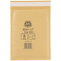 Jiffy AirKraft Bag Size 000 90x145mm Gold (Pack of 150) JL-GO-000