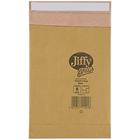Jiffy No.0 Padded Bag Envelopes, 135x229mm, Brown, Pack of 200