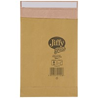 Jiffy No.1 Padded Bag Envelopes, 165x280mm, Brown, Pack of 100