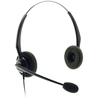 JPL JACPLUS Binaural HeadBand Black JAC-PLUS-RJ11-B